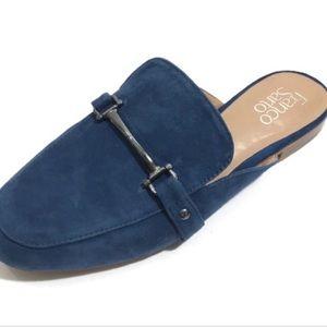 Blue Franco Sarto Slip On Mules